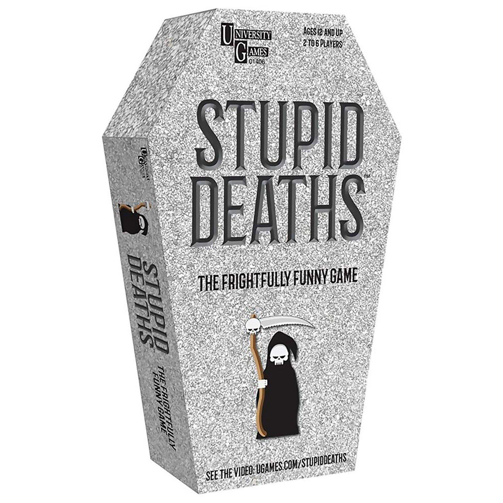 University Games Stupid Deaths Coffin Tin Card Game-unisex