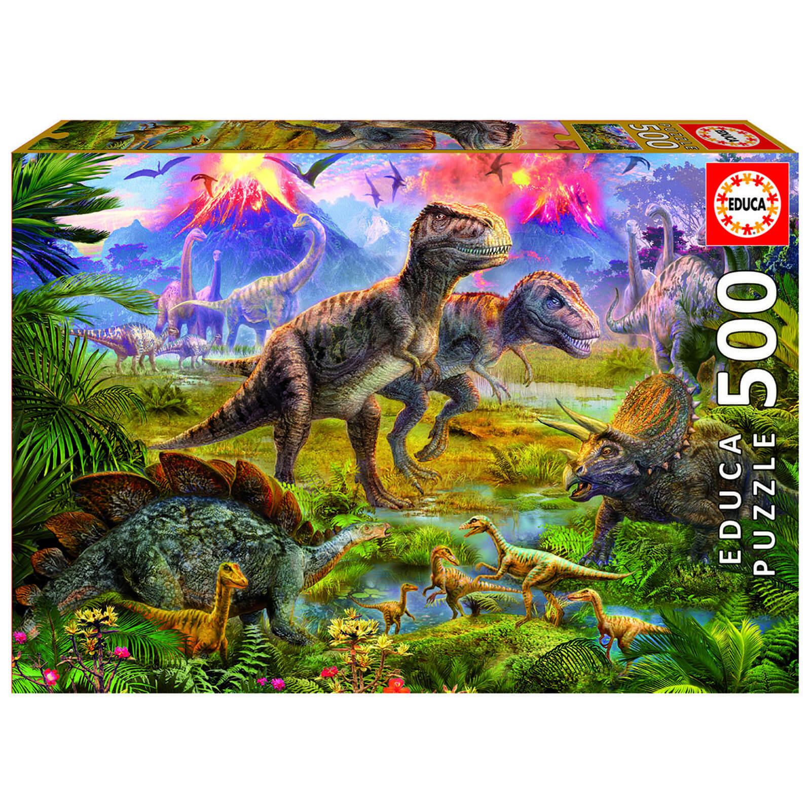 Paul Lamond Games Dinosaur Gathering Jigsaw Puzzle (500 Pieces)-unisex