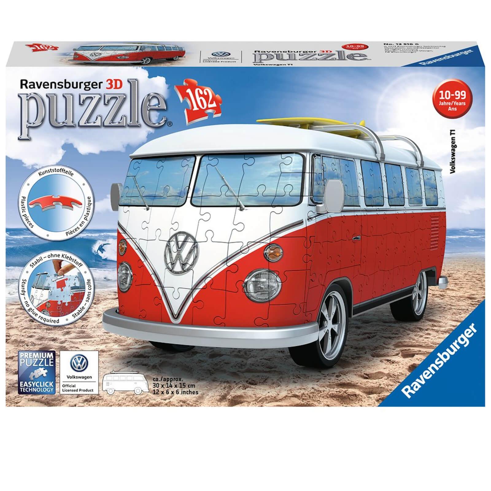 Ravensburger VW T1 Camper Van 3D Jigsaw Puzzle (162 Pieces)-unisex