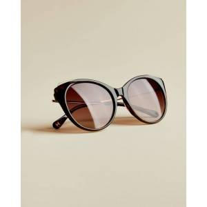 Ted Baker Round Tortoise Shell Sunglasses  - Tortoise Shell - Size: Small