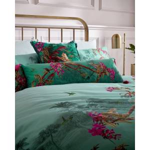 Ted Baker Hibiscus Cotton Double Duvet  - Jade - Size: One Size