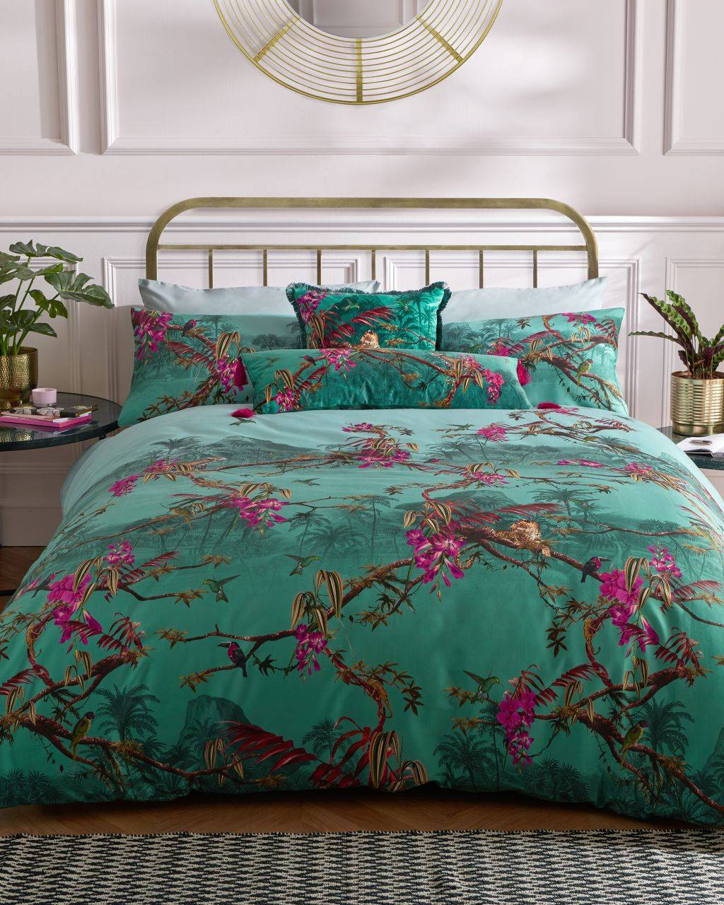Ted Baker Hibiscus Super King Sized Duvet Cover  - Jade - Size: One Size