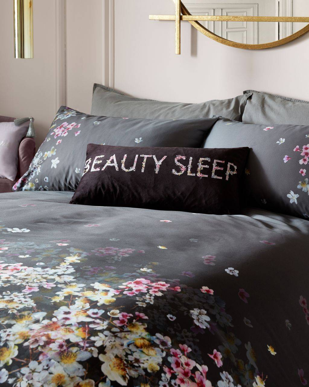 Ted Baker Spice Garden Beauty Sleep Cushion  - Grey - Size: One Size