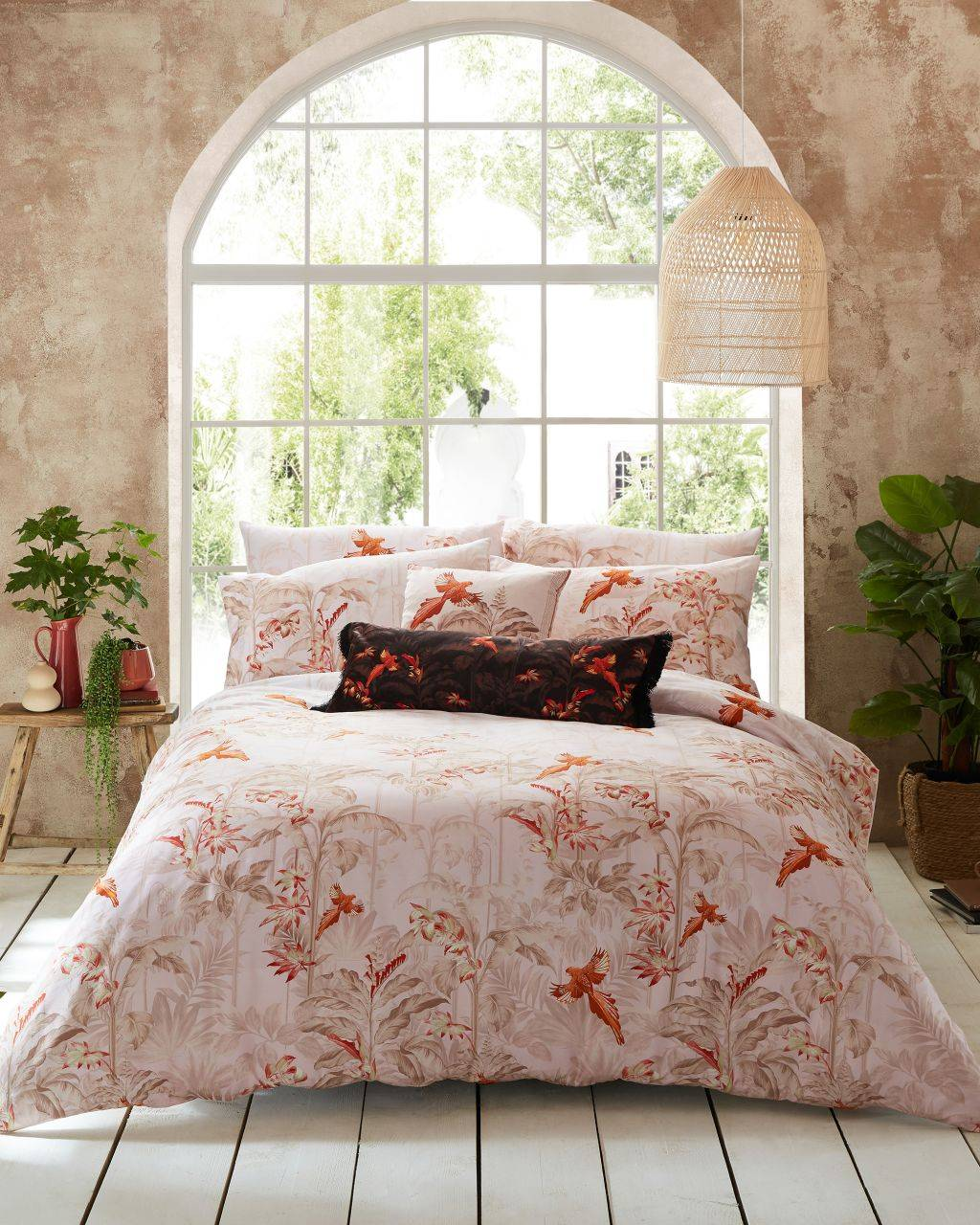 Ted Baker Rhapsody Double Quilt Cover 200cm X 200cm  - Pink - Size: One Size
