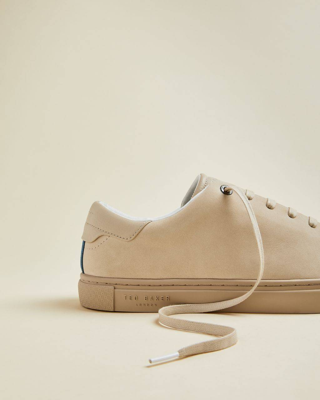 Ted Baker Leather Trainers  - Beige - Size: UK 10 (EU 44)