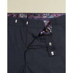 Ted Baker Sterling Subtle Check Trouser  - Navy - Size: 42 R