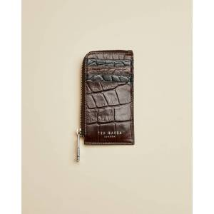 Ted Baker Metallic Leather Zip Around Wallet  - XBRNCHOCOL - Size: One Size