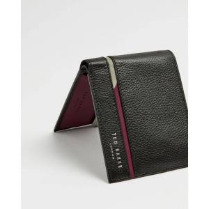 Ted Baker Striped Leather Wallet  - Black - Size: One Size