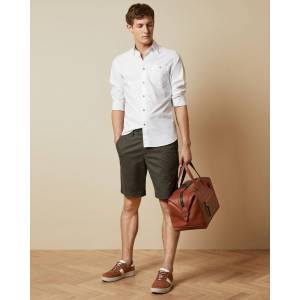 Ted Baker Cotton Chino Shorts  - Khaki - Size: 38 R