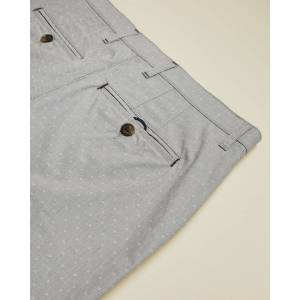 Ted Baker Woven Cotton Shorts  - Grey - Size: 38 R