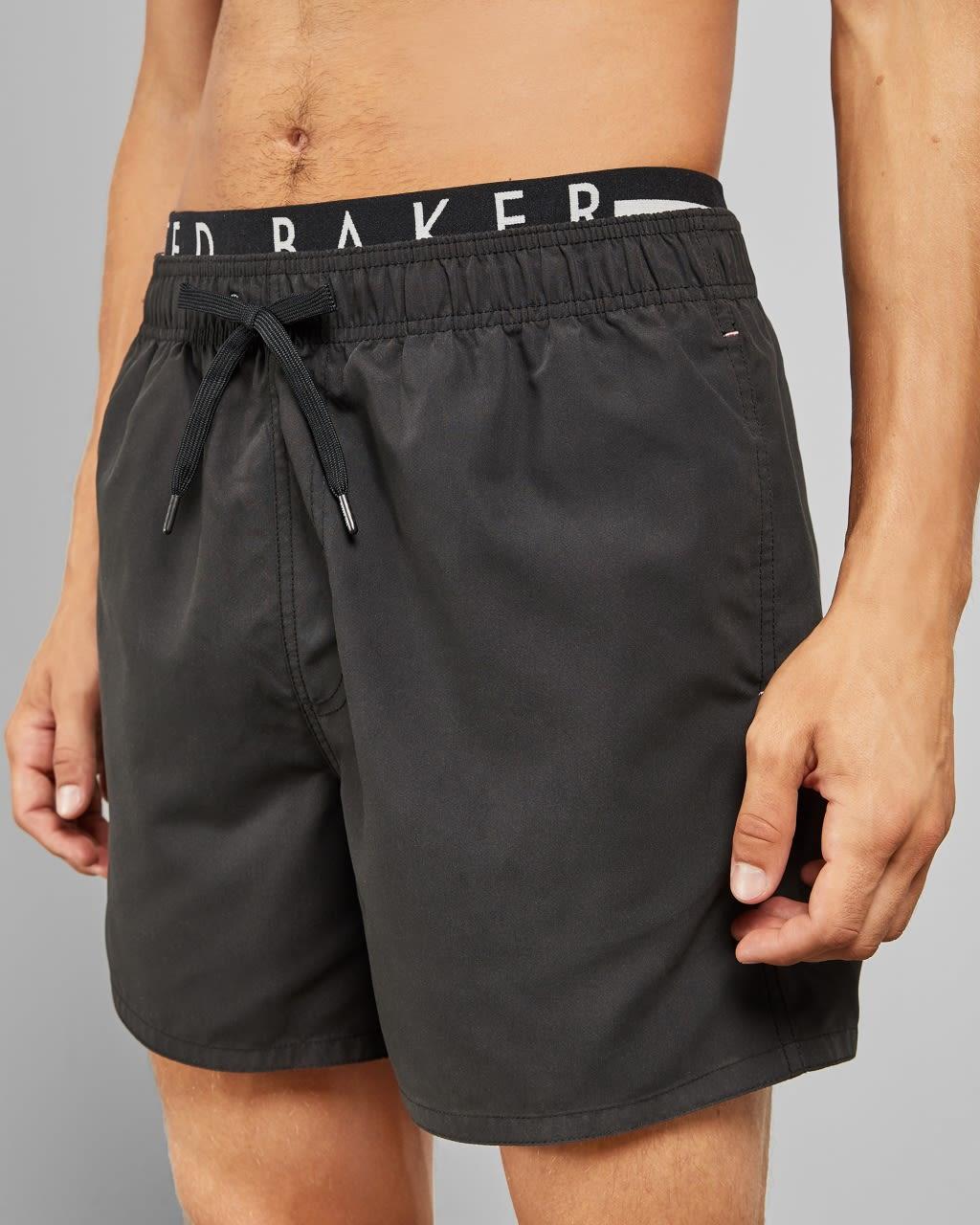 Ted Baker Branded Swim Shorts  - Black - Size: Extra Large