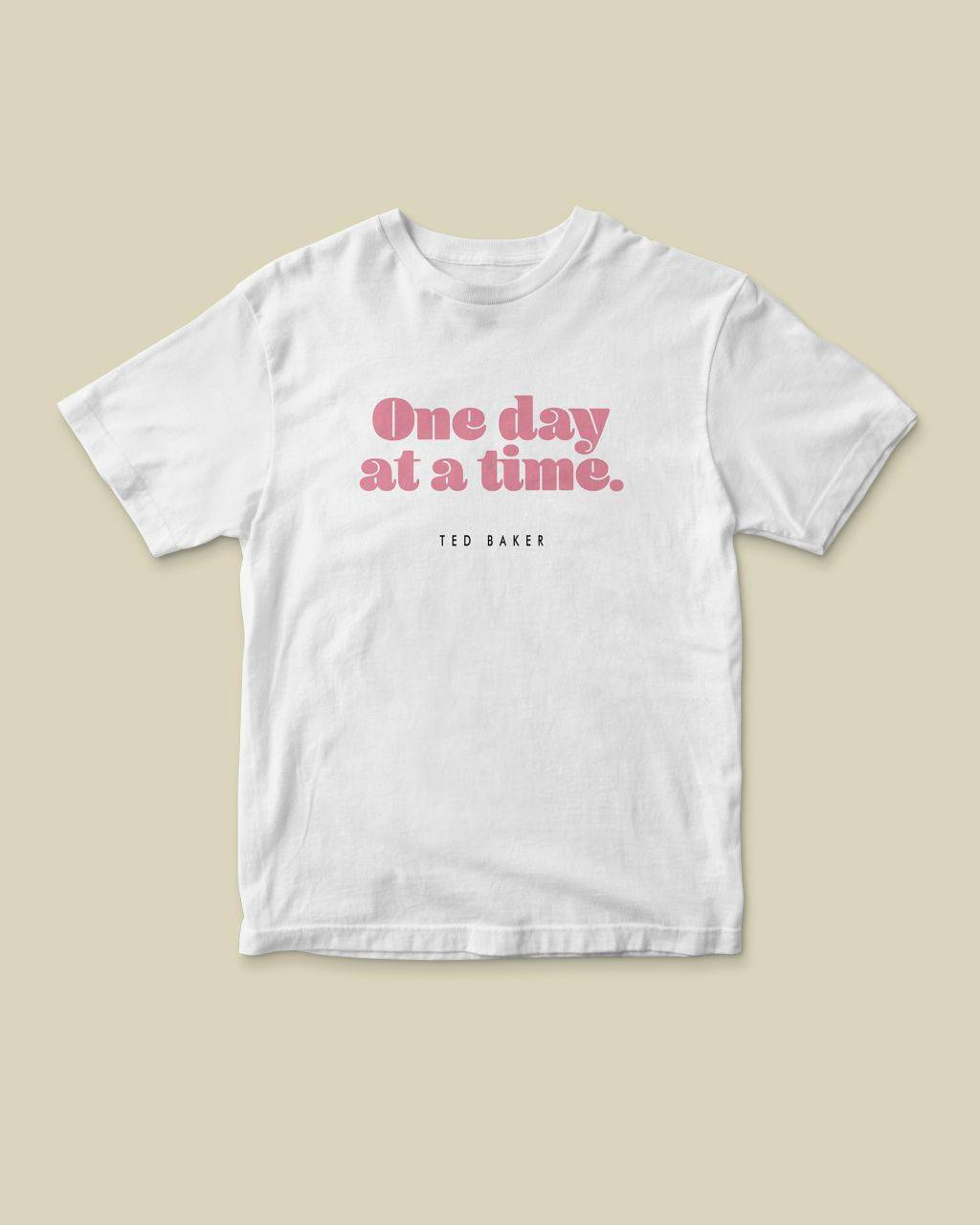 Ted Baker One Day At A Time Charity Cotton T-shirt  - White - Size: Extra Large
