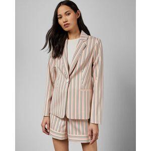 Ted Baker Striped Tailored Jacket  - Light Pink - Size:  1 (UK 8)