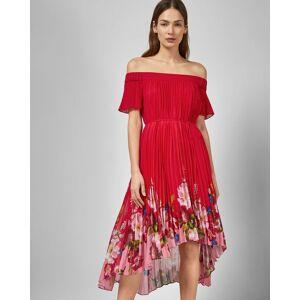 Ted Baker Berry Sundae Bardot Dress  - Red - Size:  4 (UK 14)