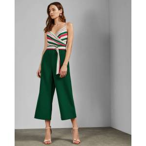 Ted Baker Tutti Frutti Jumpsuit  - Bright Green - Size:  1 (UK 8)