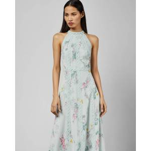 Ted Baker Sorbet Lace Maxi Dress  - Pale Green - Size:  4 (UK 14)