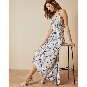 Ted Baker Everglade Sleeveless Wrap Dress  - Pale Pink - Size:  4 (UK 14)
