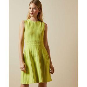Ted Baker Sleeveless Knitted Skater Dress  - Lime - Size:  0 (UK 6)