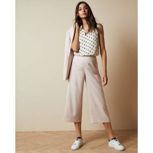 Ted Baker Button Detail Culottes  - Baby Pink - Size:  4 (UK 14)