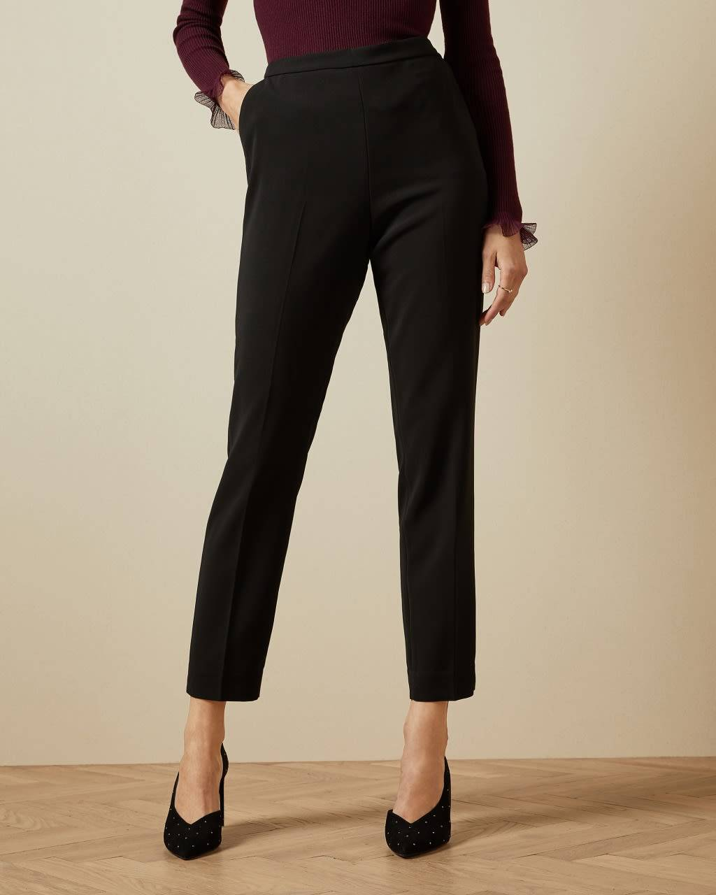 Ted Baker Angular Tailored Trousers  - Black - Size:  5 (UK 16)