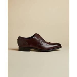 Ted Baker Classic Leather Brogues  - Dark Red - Size: UK 11 (EU 45)