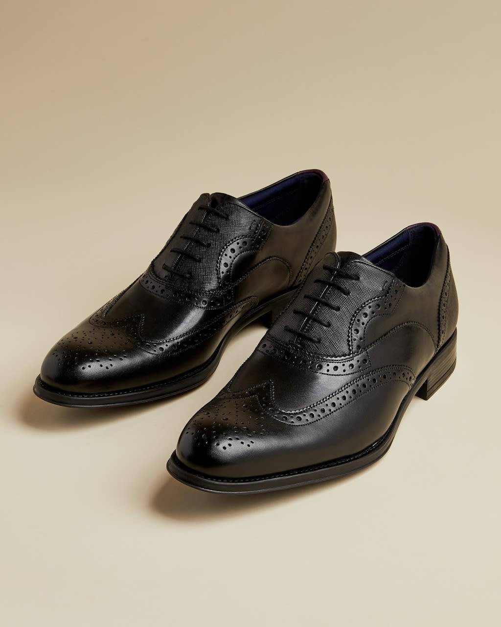Ted Baker Classic Leather Brogues  - Black - Size: UK 9 (EU 43)