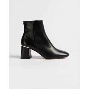 Ted Baker Square Toe Block Heel Boots  - Black - Size: UK 3 (EU 36)