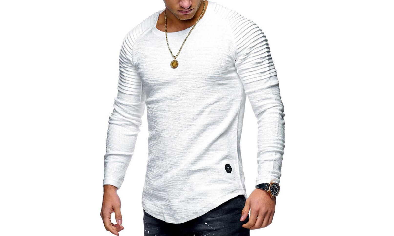 Groupon Goods One Men's Long Sleeve T-Shirt: White / L