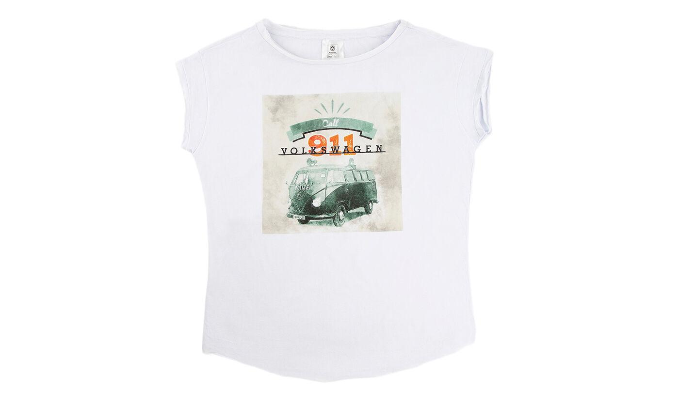Volkswagen Women's T-Shirt: Casual White T-Shirt/L