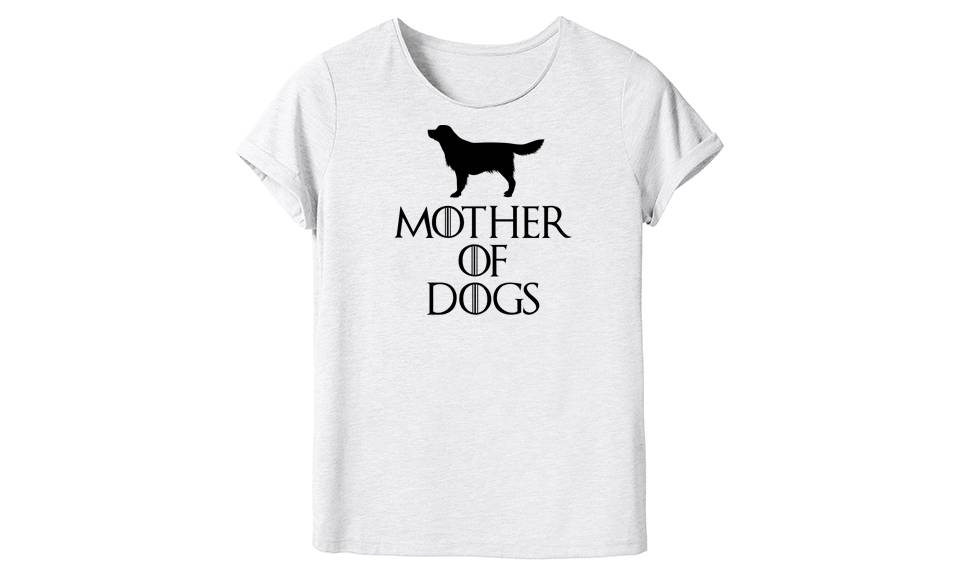 Groupon Goods Women's Mother Novelty T-Shirt: Mother of Dogs/L/Two