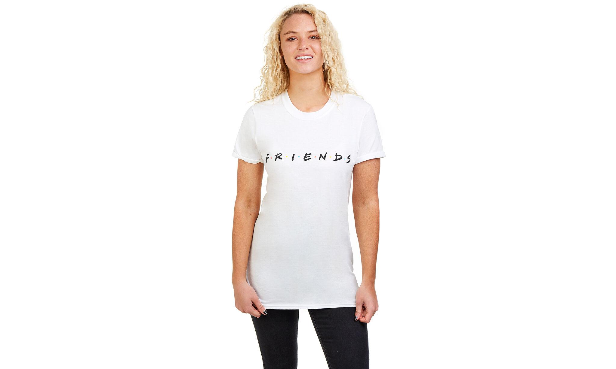 Friends Women's T-Shirt: Titles - White/Size XL