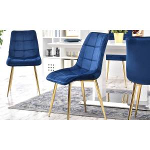 ef6f356443b Dining Chairs Groupon Goods Olsen Upholstered Dining Chair  One   Navy    Gold