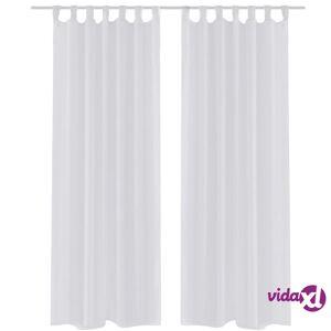 vidaXL White Sheer Curtain 140 x 225 cm 2 pcs