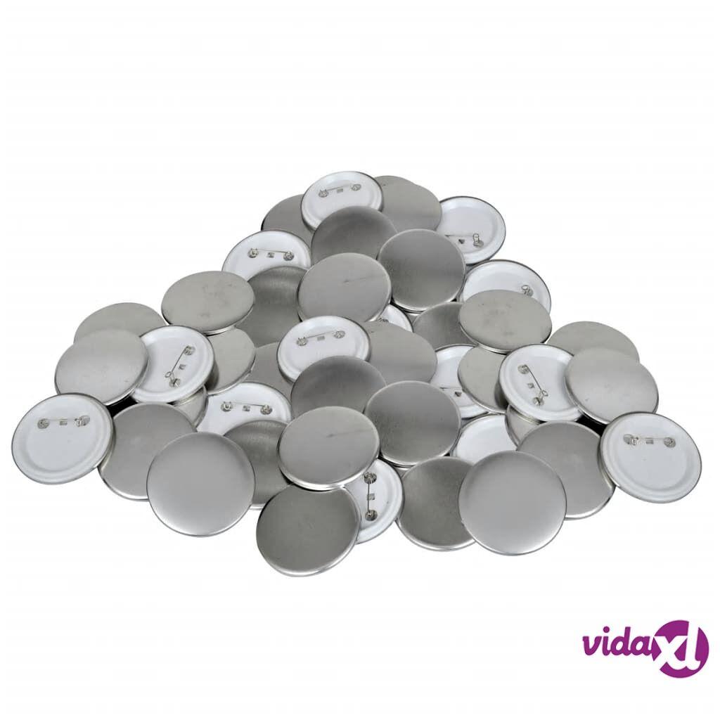 vidaXL 500 pcs Pinback Button Parts 58 mm