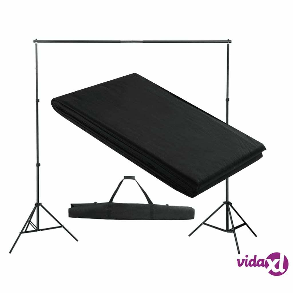 vidaXL Backdrop Support System 300 x 300 cm Black