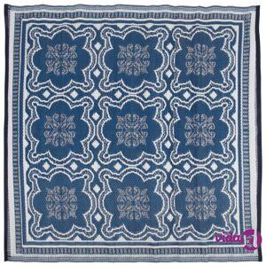 Esschert Design Outdoor Rug 151.5 cm Blue and White OC23