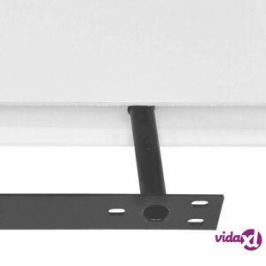 vidaXL 2 White MDF Floating Wall Display Shelves Book/DVD Storage