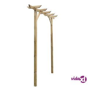 vidaXL Garden Pergola 200x40x205 cm Wood
