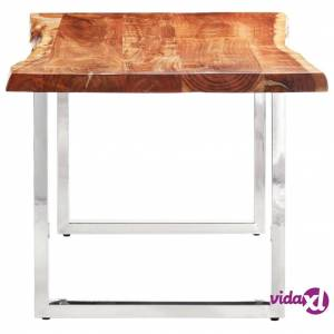 vidaXL Dining Table with Live Edges Solid Acacia Wood 200 cm 6 cm