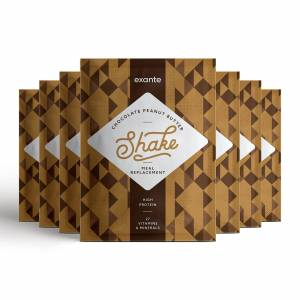 Meal Replacement Box of 7 Chocolate Peanut Butter Shakes