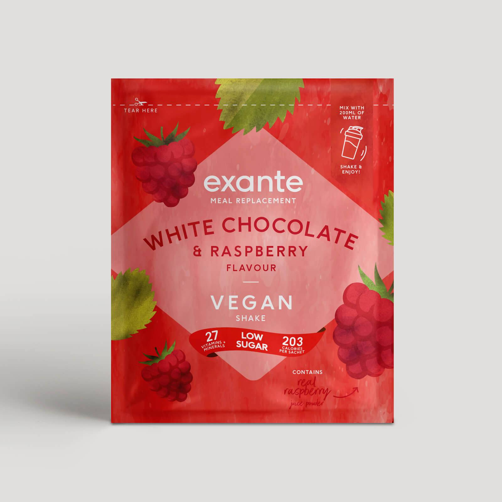 Exante Diet Vegan Meal Replacement White Chocolate and Raspberry Shake