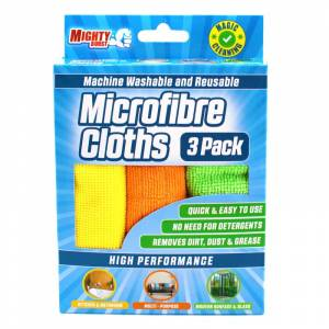 Mighty Burst Microfibre Cloths 3 pcs Cleaning Products