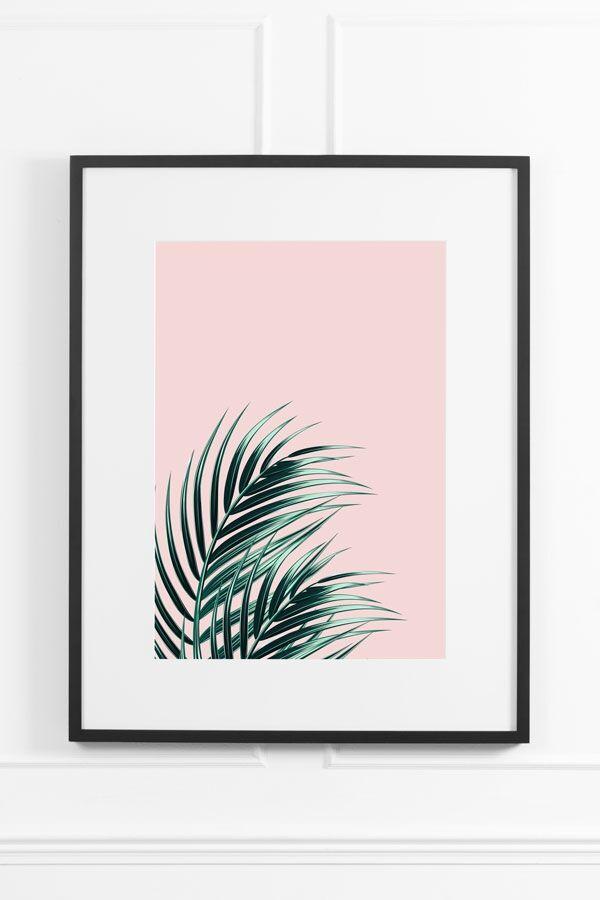 My-Furniture Tropical Blush No.1 - Black Frame