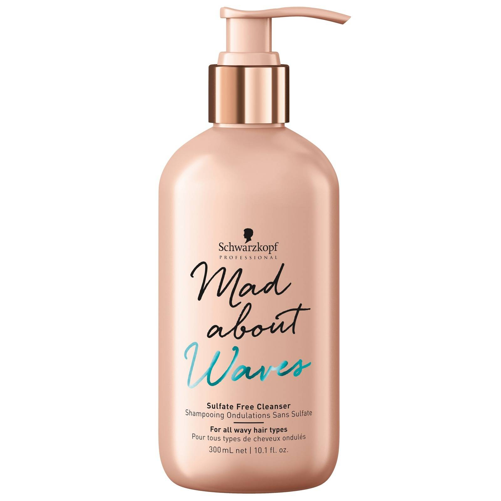 Schwarzkopf - Mad About Waves Sulfate-Free Cleanser 300ml for Women, sulphate-free
