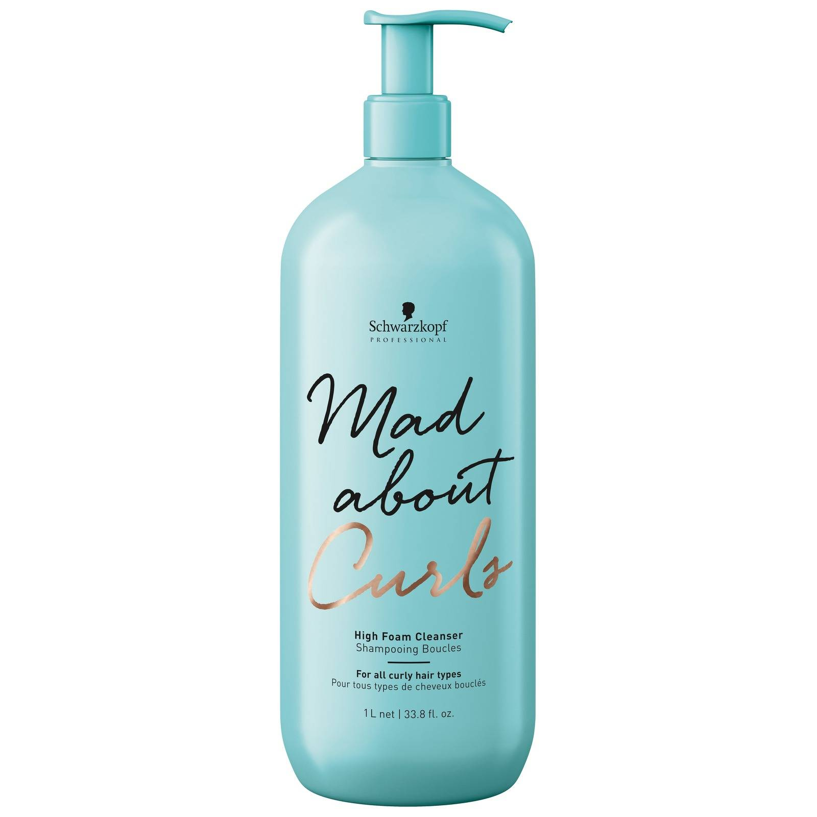 Schwarzkopf - Mad About Curls High Foam Cleanser 1000ml for Women, sulphate-free