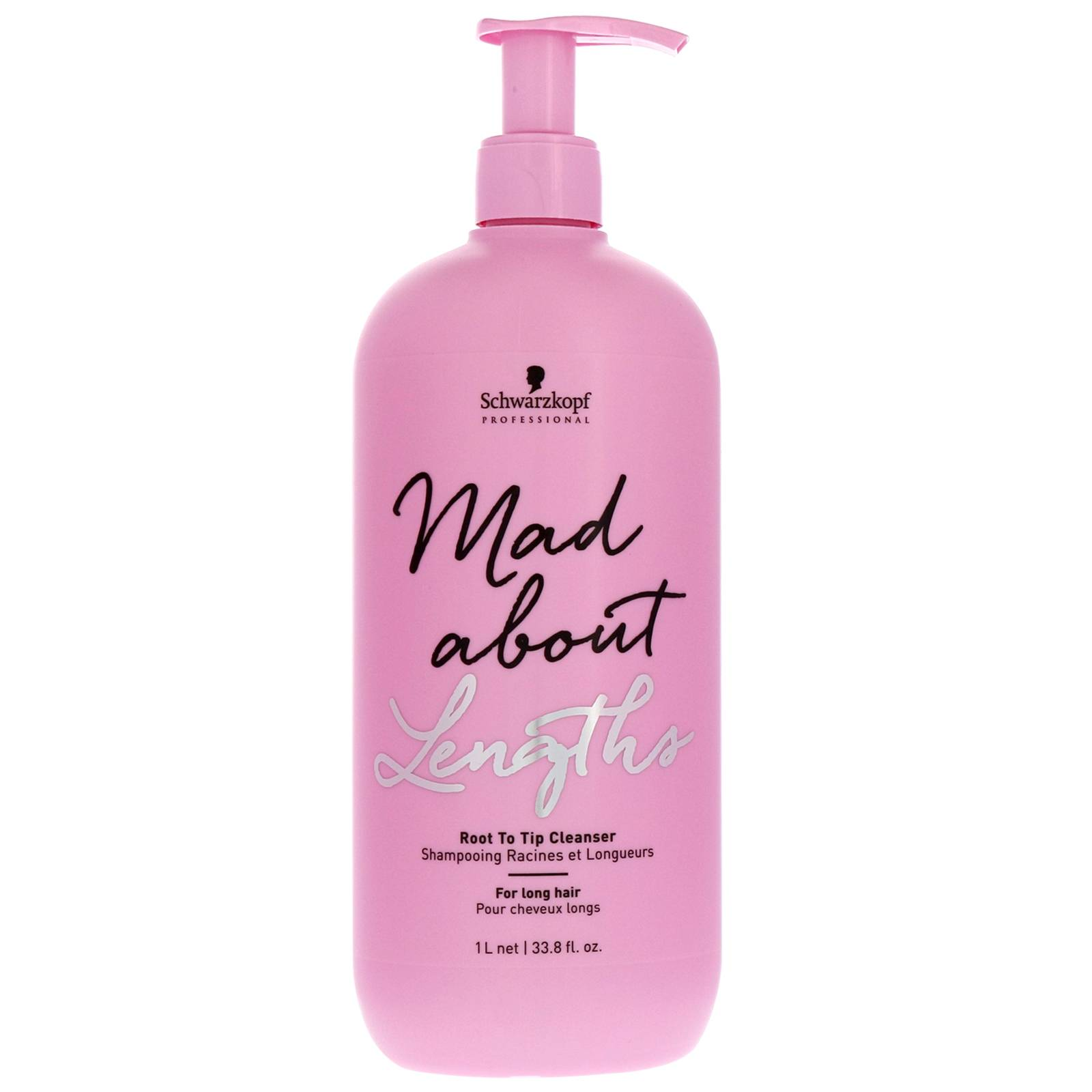 Schwarzkopf - Mad About Lengths Root To Tip Cleanser 1000ml for Women, sulphate-free
