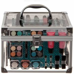 technic - Christmas 2020 Essential Cosmetics Large Clear Carry Case for Women