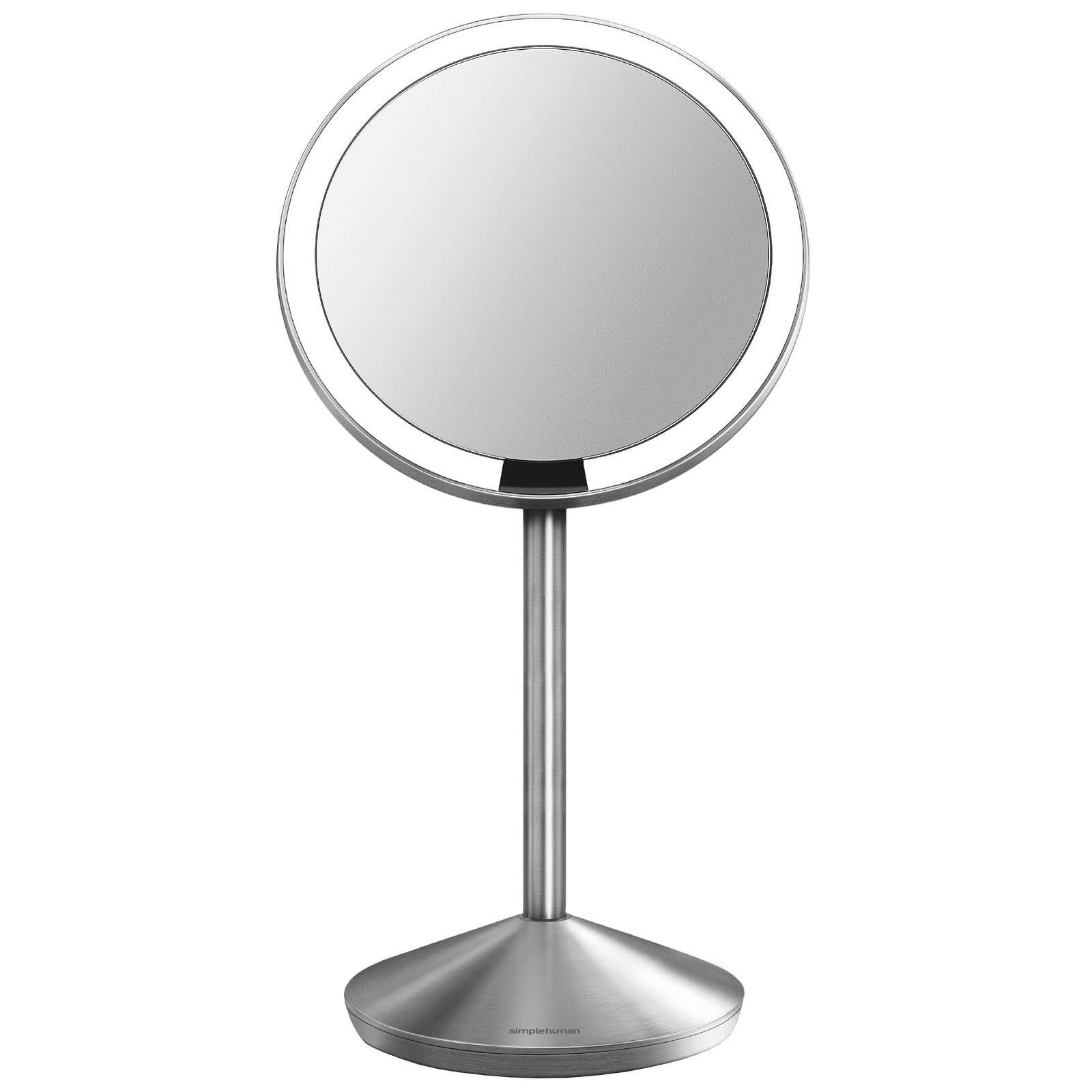 simplehuman - Sensor Mirrors 10 x Magnification 12cm Sensor Mirror: Round, with Travel Case, Stainless Steel for Women