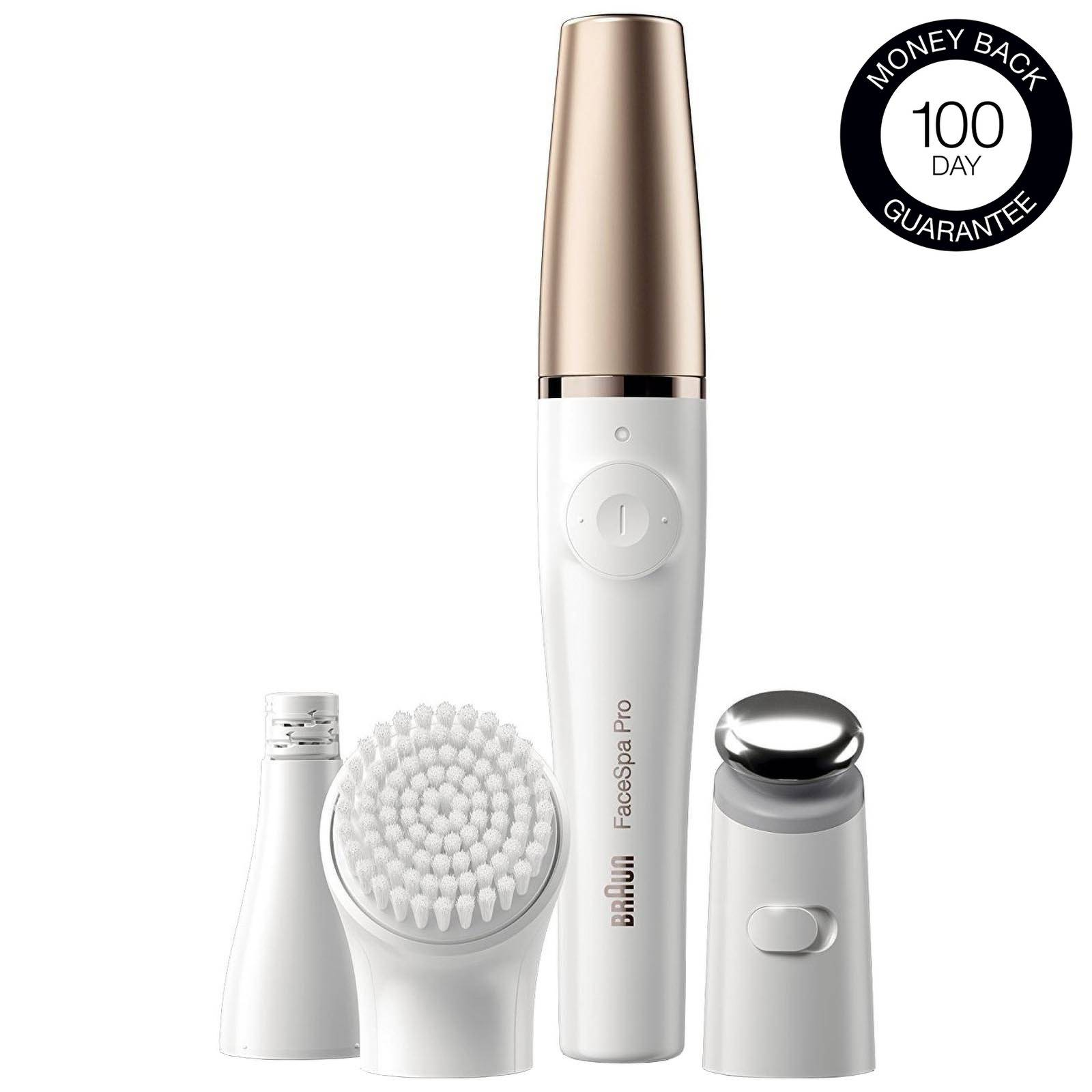 Braun - FaceSpa Pro 911 3-in-1 Facial Epilating, Cleansing & Skin Toning System with 5 Extras for Women