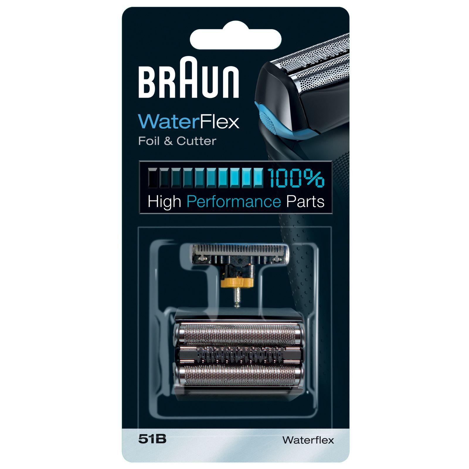 Braun - Replacement Heads WaterFlex Foil and Cutter 51B for Men